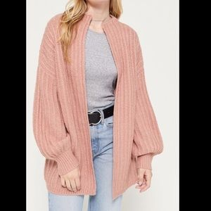 URBAN OUTFITTERS AVA OPEN CARDIGAN MAUVE